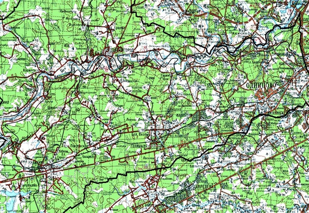 Карта. Площадь района 1268,9