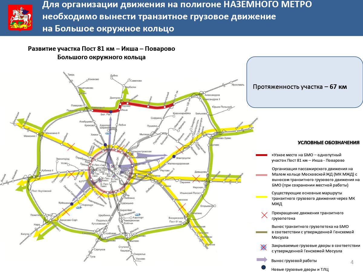 Новое наземное метро схема